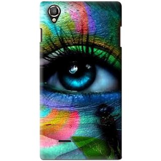 Snooky Printed Designer Eye Mobile Back Cover For Lava Iris 800 - Multi