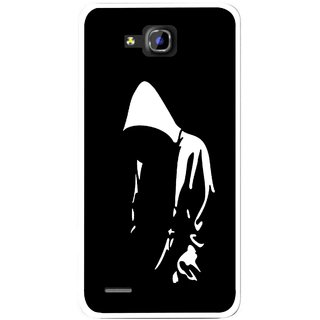 Snooky Printed Thinking Man Mobile Back Cover For Huawei Honor 3C - Black