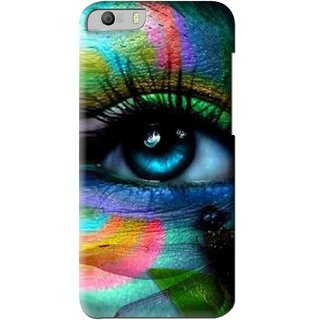 Snooky Printed Designer Eye Mobile Back Cover For Micromax Canvas Knight 2 E471 - Multi