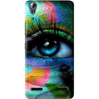 Snooky Printed Designer Eye Mobile Back Cover For Lenovo A6000 - Multi