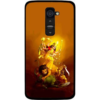 Snooky Printed Maa Durga Mobile Back Cover For Lg G2 - Multi