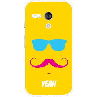 Snooky Printed Yeah Mobile Back Cover For Moto G - Yellow