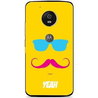 Snooky Printed Yeah Mobile Back Cover For Moto G5 Plus - Yellow