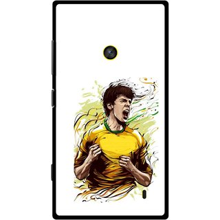 Snooky Printed I Win Mobile Back Cover For Nokia Lumia 520 - White