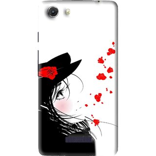 Snooky Printed Mistery Girl Mobile Back Cover For Micromax Canvas Unite 3 - Multi