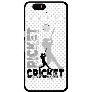 Snooky Printed Cricket Mobile Back Cover For Huawei Nexus 6P - Multi