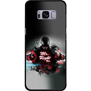 Snooky Printed Mr.Right Mobile Back Cover For Samsung Galaxy S8 Plus - Multicolour
