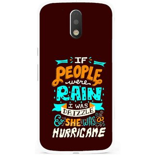 Snooky Printed Monsoon Mobile Back Cover For Moto G4 Plus - Multi