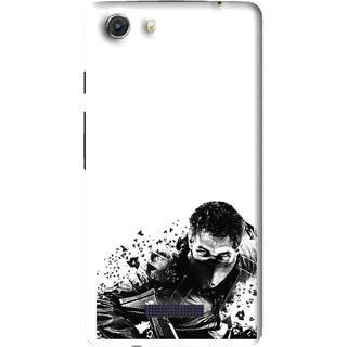 Snooky Printed Commando Mobile Back Cover For Micromax Canvas Unite 3 - Multi