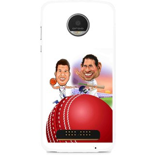 Snooky Printed Play Cricket Mobile Back Cover For Moto Z - Multi