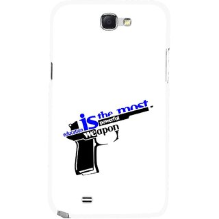 Snooky Printed Be Educated Mobile Back Cover For Samsung Galaxy Note 2 - Multicolour