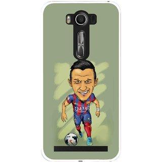 Snooky Printed Hara ke Dikha Mobile Back Cover For Asus Zenfone 2 Laser ZE500KL - Green