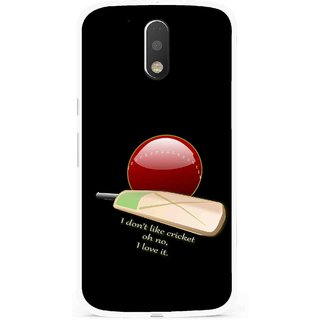 Snooky Printed Cricket Lover Mobile Back Cover For Moto G4 Plus - Multi