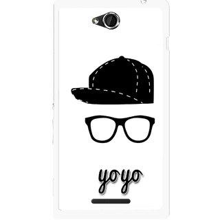 Snooky Printed Yo Yo Mobile Back Cover For Sony Xperia C - Multicolour