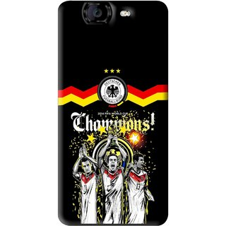 Snooky Printed Champions Mobile Back Cover For Micromax Canvas A350 - Multi