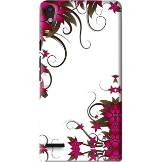 Snooky Printed Flower Creep Mobile Back Cover For Huawei Ascend P6 - Multi