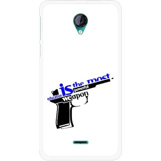 Snooky Printed Be Educated Mobile Back Cover For Micromax Canvas Unite 2 - Multicolour