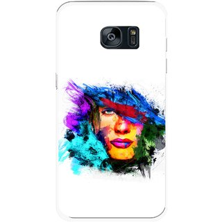 Snooky Printed Dashing Girl Mobile Back Cover For Samsung Galaxy S7 - Multicolour