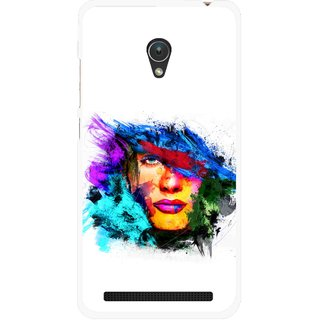 Snooky Printed Dashing Girl Mobile Back Cover For Asus Zenfone 5 - Multicolour