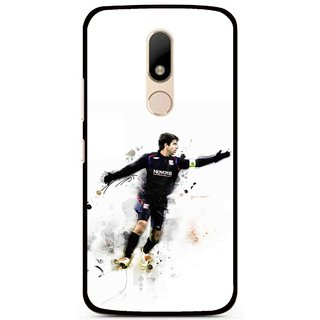 Snooky Printed Pass Me Mobile Back Cover For Motorola Moto M - White