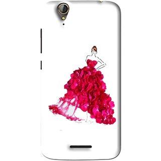 Snooky Printed Rose Girl Mobile Back Cover For Acer Liquid Z630S - Multi