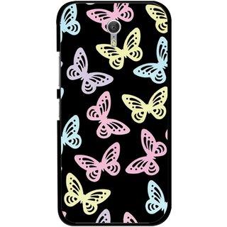 Snooky Printed Butterfly Mobile Back Cover For Lenovo Zuk Z1 - Multicolour