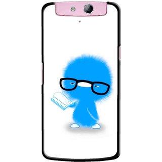 Snooky Printed My Teacher Mobile Back Cover For Oppo N1 Mini - White