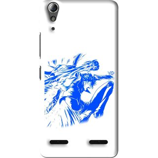 Snooky Printed Horse Boy Mobile Back Cover For Lenovo A6000 - Multi