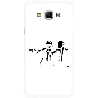 Snooky Printed Gangster Mobile Back Cover For Samsung Galaxy E7 - Multicolour