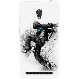 Snooky Printed Enjoying Life Mobile Back Cover For Asus Zenfone Go ZC451TG - White