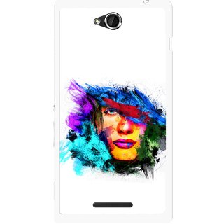 Snooky Printed Dashing Girl Mobile Back Cover For Sony Xperia C - Multicolour