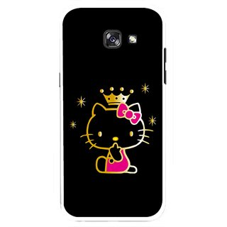 Snooky Printed Princess Kitty Mobile Back Cover For Samsung Galaxy A7 (2017) - Multicolour