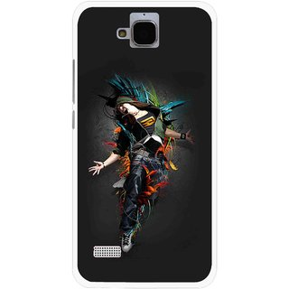 Snooky Printed Music Mania Mobile Back Cover For Huawei Honor Holly - Multicolour