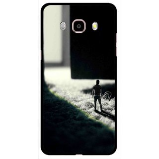 Snooky Printed God Door Mobile Back Cover For Samsung Galaxy J5 (2017) - Black