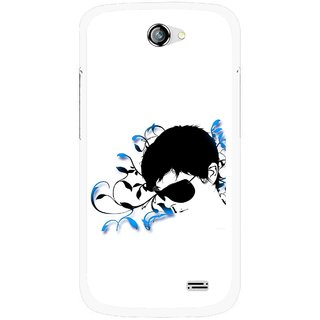 Snooky Printed Stylo Man Mobile Back Cover For Gionee Pioneer P2 - Multicolour