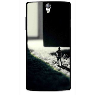 Snooky Printed God Door Mobile Back Cover For Oppo Find 5 Mini - Black