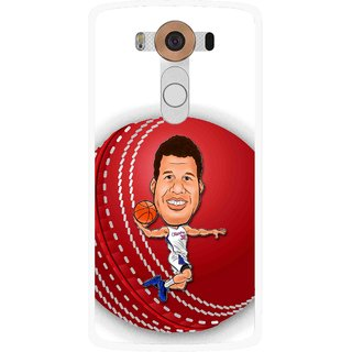 Snooky Printed Cricket Club Mobile Back Cover For Lg V10 - Multi