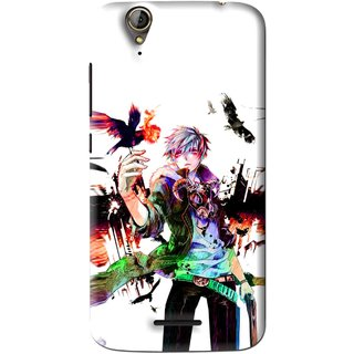 Snooky Printed Angry Man Mobile Back Cover For Acer Liquid Z630S - Multi