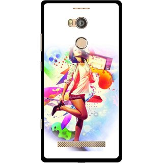 Snooky Printed Shopping Girl Mobile Back Cover For Gionee Elife E8 - Multicolour