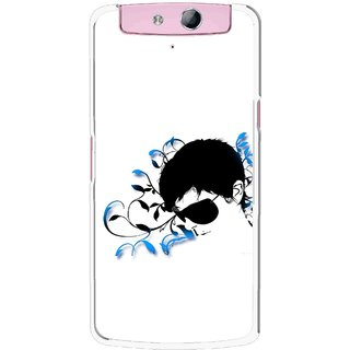Snooky Printed Stylo Man Mobile Back Cover For Oppo N1 - Multicolour
