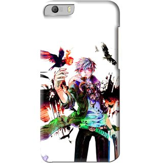 Snooky Printed Angry Man Mobile Back Cover For Micromax Canvas Knight 2 E471 - Multi