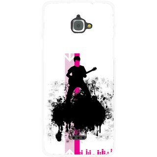 Snooky Printed Music In Air Mobile Back Cover For Infocus M350 - Multi
