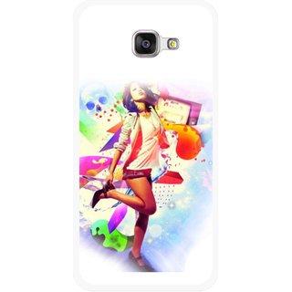 Snooky Printed Shopping Girl Mobile Back Cover For Samsung Galaxy A5 2016 - Multicolour