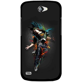 Snooky Printed Music Mania Mobile Back Cover For Gionee Pioneer P3 - Multicolour