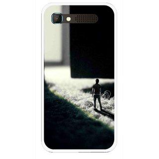 Snooky Printed God Door Mobile Back Cover For Intex Aqua Y2 Pro - Black
