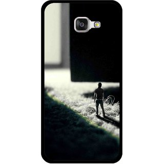 Snooky Printed God Door Mobile Back Cover For Samsung Galaxy A3 (2016) - Black