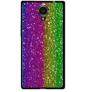 Snooky Printed Sparkle Mobile Back Cover For Gionee Elife E7 - Multicolour