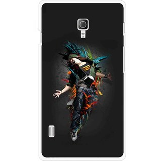 Snooky Printed Music Mania Mobile Back Cover For Lg Optimus L7 II P715 - Multicolour