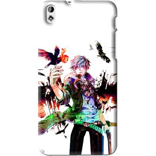 Snooky Printed Angry Man Mobile Back Cover For HTC Desire 816 - Multi