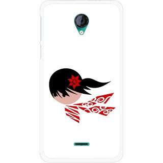 Snooky Printed Caty Girl Mobile Back Cover For Micromax Canvas Unite 2 - Multicolour